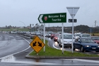 Traffic was backed up for several hours near Maungatapu Bridge after a serious crash. Photo / Andrew Warner