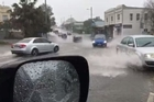 A flood warning has been issued for Auckland, with heavy rain causing chaos across the city.