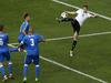 Germany's Julian Draxler scores his side's third goal against Slovakia. Photo / AP
