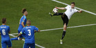 Germany's Julian Draxler scores his side's third goal against Slovakia. Photo / AP