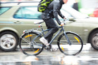 A new sonar device is being used by police in Canada to enforce the distance between cyclists and passing cars. Photo / iStock