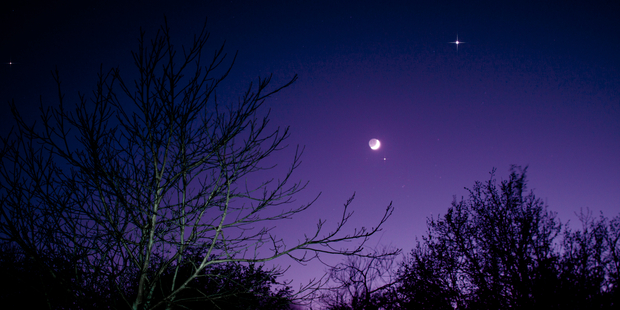 The night sky with Moon, Venus and Aldebaran over Germany. Photo / iStock