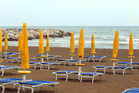 Two beaches in the northern Italian resort town of Jesolo are offering refunds to holiday-makers if it rains during their visit. Photo / iStock
