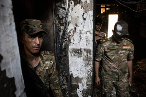 Swat soldiers found an Isis prison in this building in the Muallimin neighbourhood of Fallujah, Iraq. Photo / The Washington Post