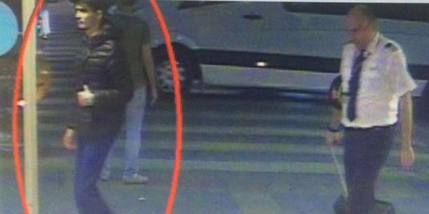 CCTV footage shows one of the men believed to be one of the bombers walking into the airport terminal alongside a pilot.