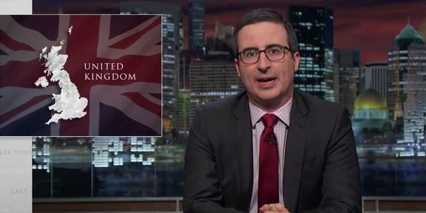 Loading Comedian John Oliver is no fan of the Brexit decision. Photo / YouTube