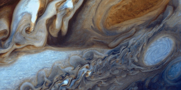 An image taken by the Voyager 1 probe showing Jupiter's Great Red Spot. Photo / NASA