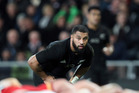 Lima Sopoaga of the All Blacks during the International Test match between New Zealand and Wales at Forsyth Barr Stadium. Photo / Getty