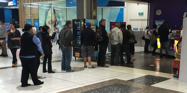 People lining up for Lotto tickets. Photo / Supplied
