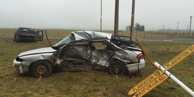 FATAL: One person is dead after a crash in CHB this morning. PHOTO DUNCAN BROWN