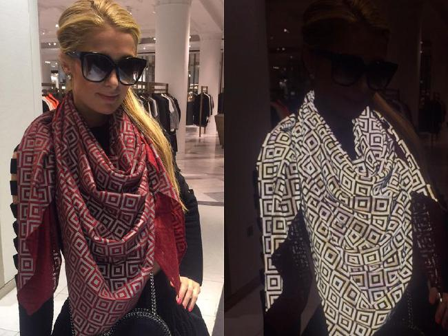 Paris Hilton donning the ISHU scarf. Photo / Facebook