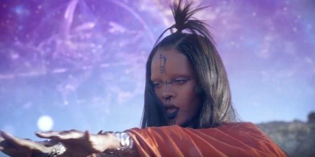 Rihanna in her new video, Sledgehammer. Photo/YouTube