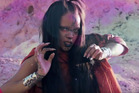 Rihanna is virtually unrecognisable in her new video for the Star Trek song Sledgehammer. Photo/YouTube