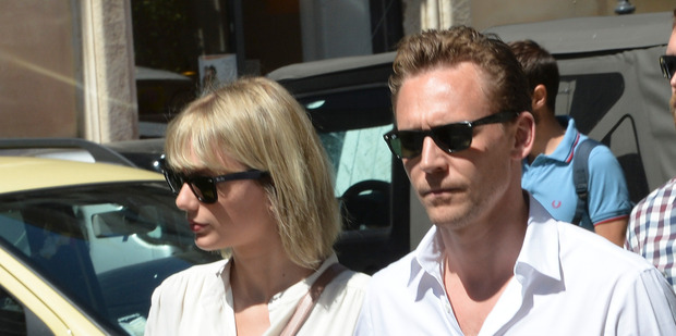 Taylor Swift and Tom Hiddleston have been photographed around the world. Here they are snapped in Rome. Photo / Splash