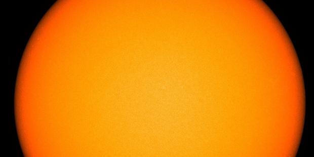 A blemish-free sun indicates decreased solar activity known as a solar minimum. Photo / NASA