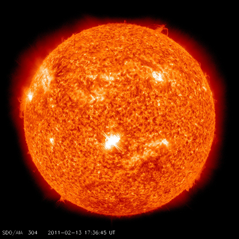 Solar flares and activity all over the place. Photo / NASA