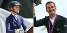 """Julie Brougham, left, has the edge over Sir Mark Todd by """"a year or so""""."""