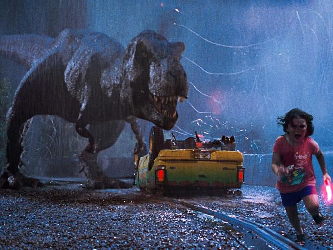 Running from a T-Rex in Jurassic Park. Photo / livethroughthis4, imgur