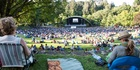 The crowds at Tropfest enjoy some films in the sun. Photo / Mark Bellringer