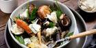 Vegetable and mozzarella salad recipe