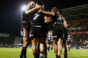 Simon Mannering was able to celebrate his milestone match with a win. Photo / Getty