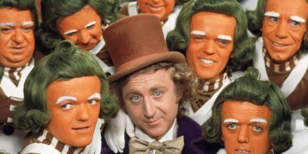 Gene Wilder hanging out with the orange pranksters. Source / supplied