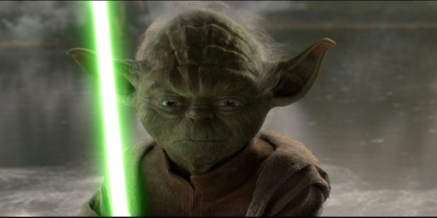 Yoda's odd speech pattern is central to his personality.