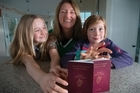 Kate O'Rourke (centre) is in the process to obtain Irish passports for her daughters Rona Costello, 11, (left) and Caoimhe Costello, 8. 08 July 2016. New Zealand Herald photograph by Nick Reed