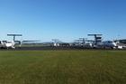 PLANE CITY: Planes diverted to Tauranga airport. PHOTO/STEVE KLINK