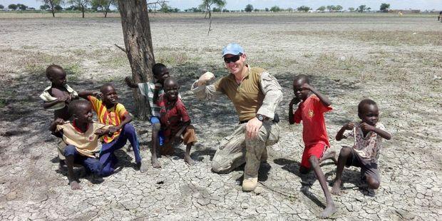 Major Fraser Winskill in South Sudan. Photo / Supplied