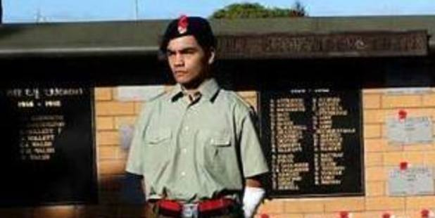 Thor Sullivan was a cadet with the Defence Force's No 34 Squadron South Waikato. Photo / Supplied