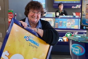 Florence Els urges locals to come and buy a ticket from the luckiest Lotto store in Rotorua. Photo / Stephen Parker