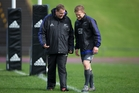 Damian McKenzie (right) needs to show All Blacks coach Steven Hansen he's absorbed the lessons from training camp. Photo / Brett Phibbs