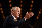 Australian Prime Minister Malcolm Turnbull addresses party supporters in Sydney. Photo / AP