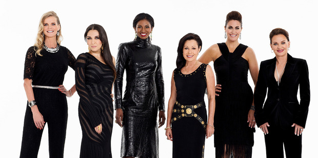 Loading The Real Housewives of Auckland are Julia Sloane, Louise Wallace, Michelle Blanchard , Anne Batley Burton, Angela Stone and Louise Wallace.