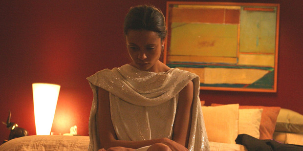 Thandie Newton, seen here in the 2004 film Crash, says she was sexually abused by a director.