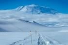 The road to Mt Erebus in Antarctica. Photo / Alan Gibson