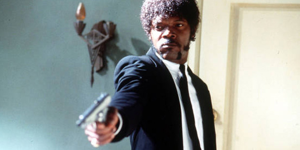 Samuel L Jackson in his 1994 hit Pulp Fiction.