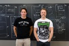 Vinomofo founders Andre Eikmeier, left, and Justin Dry. Photo / Supplied