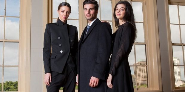 Models in Camilla and Marc and male model in Anthony Squires - brands sold by David Jones in its new New Zealand store. Photo / Damian Shaw