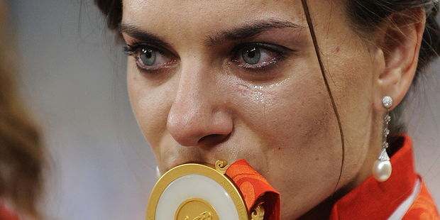 Russia's Yelena Isinbaeva is hoping to win gold again. Photo / Getty
