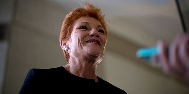 Pauline Hanson was previously all about stopping 'Asian' immigration. These days she has turned her focus to the dangers of Islam. Photo / Getty