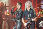 Adam Lambert, and Brian May of Queen perform in the US in 2014. Nick Braae met Brian May when the band toured New Zealand. Photo / Getty