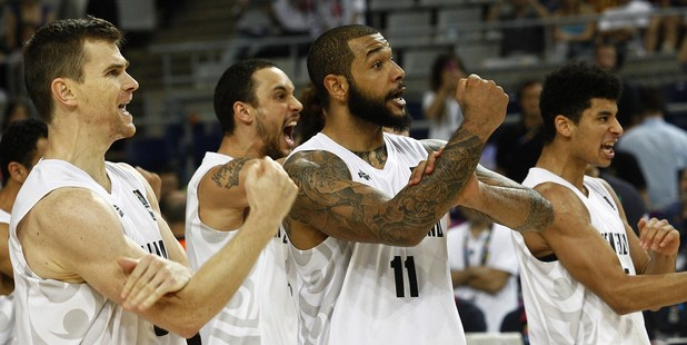 New Zealand's players perform a Haka before the 2014 FIBA World basketball champs. Photo / Getty Images