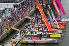 The Volvo Ocean Race 2014-15 in port. Photo / Getty Images