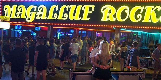 Magaluf, an island in Spain, is a popular destination for young British tourists to let loose. Photo / Getty Images