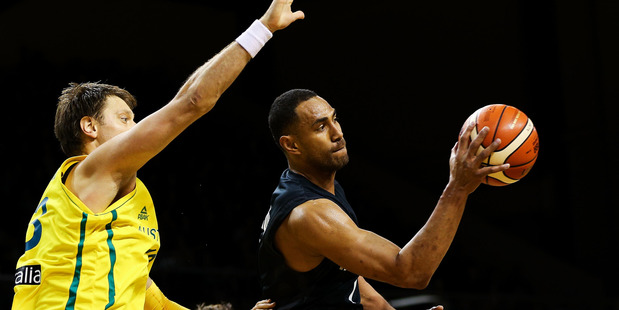 Mika Vukona during the game two match between the Tall Blacks and Australia. Photo / Getty Images