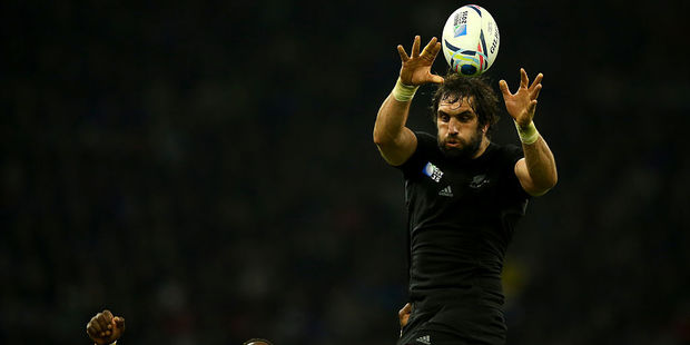 Sam Whitelock in action for the All Blacks. Photo / Getty