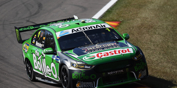 Mark Winterbottom during V8 Supercars practice ahead of the Darwin Triple Crown. Photo / Getty Images