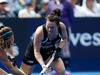 Kelsey Smith of New Zealand battles for the ball against the USA. Photo / Getty Images